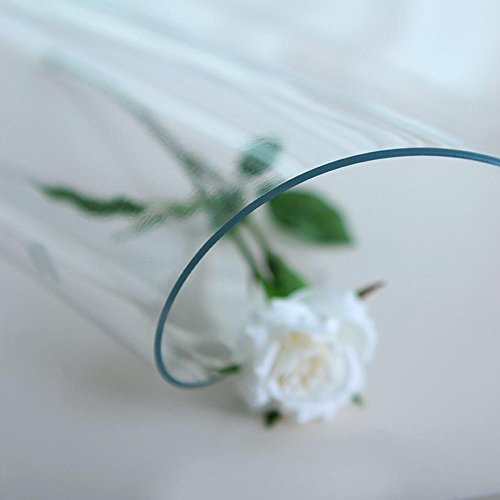 à manger nappe Papier peint transparent épais Tissu en mousse souple PVC Matière imperméable à l'éponge Matière imperméable à l'épreuve Manteau isolant Manteau rond (2 couleurs en option) (taille facultative) durable