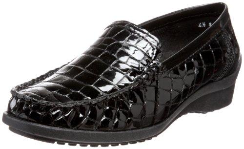 ara Women's Phoebe Loafer,Black Croco Patent,6.5 M US
