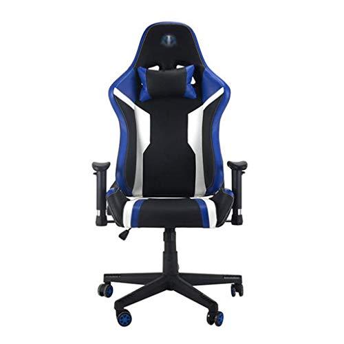 NBVCX Möbel Dekoration Massage Gaming Chair 350lbs Bürocomputer Schreibtischstuhl mit Lordosenstütze Ergonomischer Rennstil Verstellbarer Drehstuhl mit hoher Rückenlehne für Erwachsene