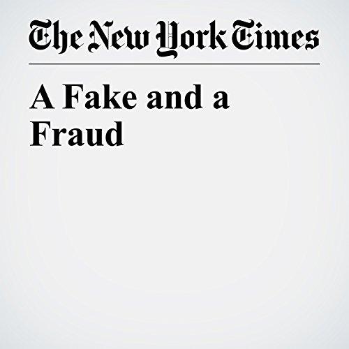 A Fake and a Fraud copertina