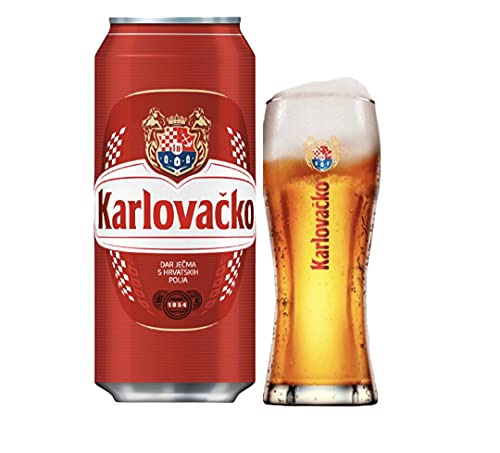 24 Dosen 500ml Karlovacko Bier aus Kroatien