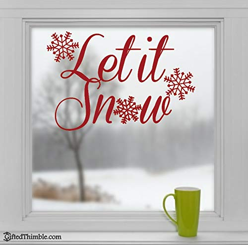 Winter Flozen Let it go Sneeuwvlok Decals Kerstvakantie Seizoen Home Raam Decor Muursticker Q57x38cm