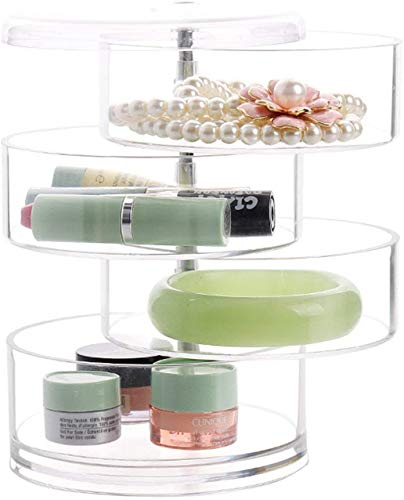 La caja de cosméticos con clip contiene brillo labial, pintura de esmalte de uñas, soporte de exhibición, cepillo de maquillaje y caja de almacenamiento con cuatro cajones.