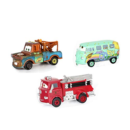 3PCs Cars Movie Toys Fillmore &Tow Mater & The Red Diecast Toy Car 1:55 Loose Kids Toy Vehicles McQueen Toys Car Firetrucks