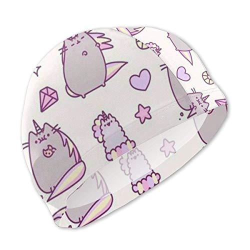 Bonnet de Bain Chat Violet pour Enfants Bonnet de Bain Enfant