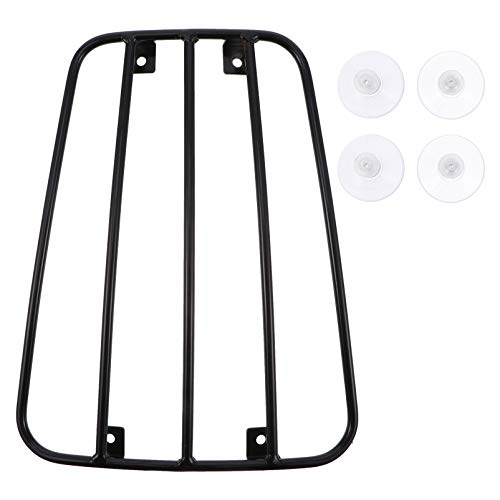 Wakauto Motorcycle Luggage Rack Support Shelf, Universal Motorcycle Fuel Tank Suction Cup Luggage Rack Accessories, Black