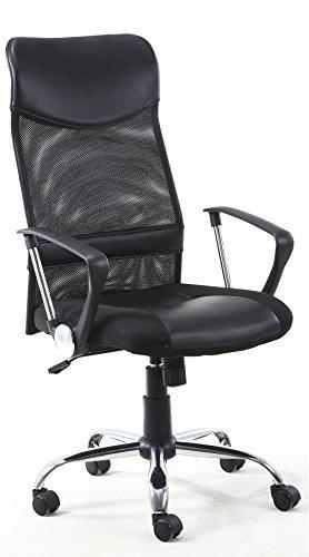 Venta-Stock Sillón de Oficina Campus Respaldo Alto de Rejilla, Color Negro, Altura Ajustable