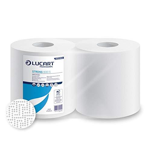 Lucart carta da cucina asciugatutto - 1600 strappi complessivi - Rotoli di carta asciugamani 100% pura cellulosa, doppio velo, resistente, assorbente e per alimenti