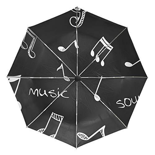 DEZIRO Muziek Lyric Outdoor?Paraplu?auto open Winddicht Waterdicht