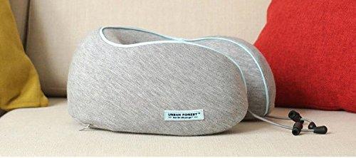Reiskussen, U-vormig nekkussen met draagtas, afwasbare hoes, verstelbare gesp/mal bevestigen de bagage en rol in een PU-opbergtas (260 * 260 * 120mm)
