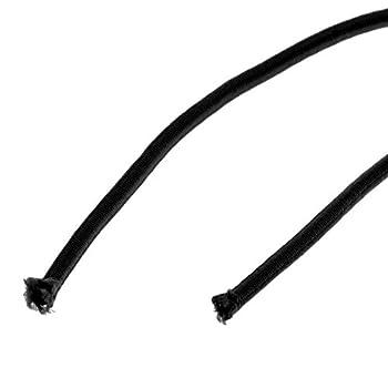 DDGE DMMS Corde élastique - 5 m x 3 mm - Noir
