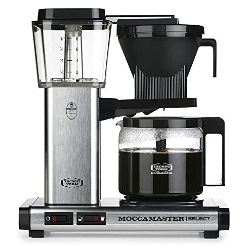 Moccamaster CD - KBG 741 Select - Silver Brushed Kaffemaskin, 1520W, Svart