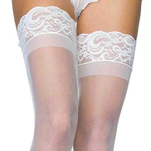 Leg Avenue Women's Stay-up Lace Top Sheer Thigh Highs