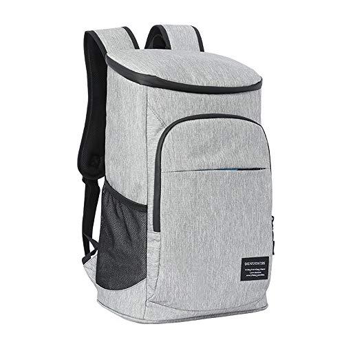 SUBMARINE Mochila refrigerante de 27 litros, color gris, bolsa de pícnic, bolsa aislante para senderismo, picnic, playa, barbacoa, camping al aire libre