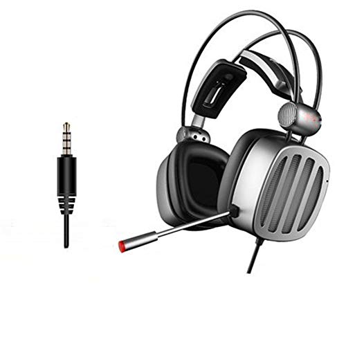 HAGUOHE Casque WiredGaming, Pilotes Audio 50 Mm, Prise Audio 3,5 Mm, Microphone Muet, Léger pour PC, Mac, Xbox One, PS4
