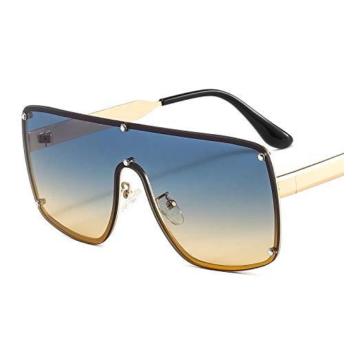 chuanglanja Gafas De Sol Mujer Joven Mujeres Gafas De Sol Cuadradas Hombres Marco De Aleación De Metal Pc Lente Negra Simplicidad Gradientes Gafas De Sol-Color-X