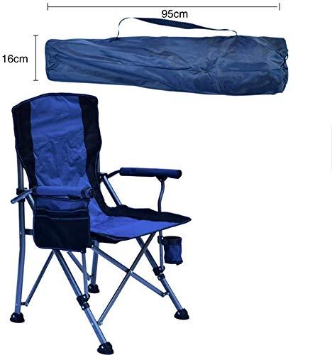 Chaises de camping avec abat-jour Canopy for adultes robuste Chaise pliante avec pelouse Porte-gobelet et Carry Portable Sac for extérieur Pêche Randonnée pique-nique (Color : Blue)