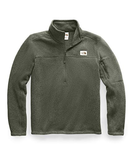 The North Face Men's Gordon Lyons Quarter Zip Pullover, New Taupe Green Heather, Large