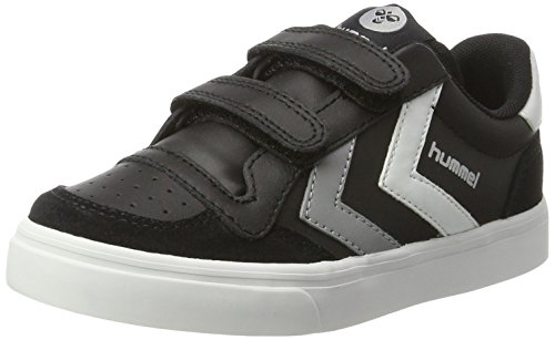 hummel Unisex-Kinder Stadil JR Leather Low, Schwarz (Black), 35 EU