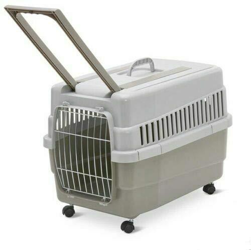 Imac Kim 60 Trasportino per Cani e Gatti con Ruote e Trolley 60x40x45h cm Trasportino da Viaggio (Tortora)