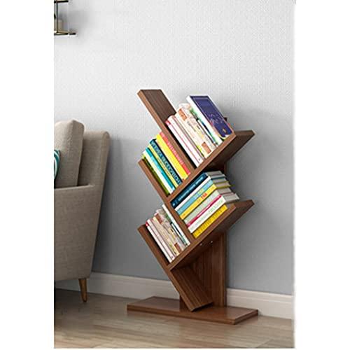 Estante para Libros Estante en forma de árbol, gabinete de exhibición de almacenamiento de libros de gran capacidad, estante en forma de T para la oficina del dormitorio doméstico (40 * 18 * 69cm) Lib