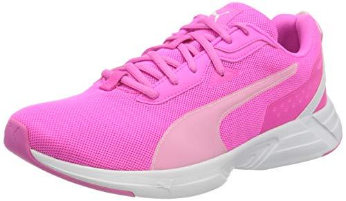PUMA Unisex-Erwachsene Space Runner Straßen-Laufschuh, Leuchtendes Pink Weiß, 37 EU