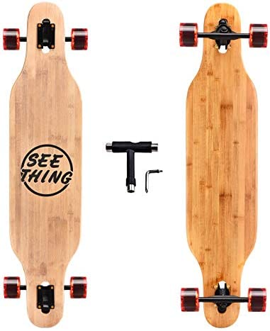 seething 42 Inch Longboard Skateboard Complete Cruiser Pintail,The Original Artisan Maple Skateboard Cruiser Pintail for Cruising, Carving, Free-Style and Downhill
