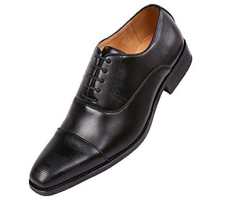 Amali Classiko, Mens Shoes - Mens Dress Shoes - Mens Oxford Shoes - Wedding Shoes - Lace Up, Tuxedo Shoes for Men - Patent Man Made Leather, Black Size 15