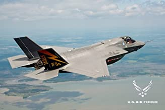 US AIR FORCE POSTER F35 Amazing Shot fighter jet 24x36