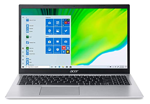 """Acer Aspire 5 Intel Core i3 11th Generation 15.6"""" (39.62 cms) - (4 GB/256 GB SSD/MS Office 2019/Windows 10 Home/Intel UHD Graphics /1.65Kg/Silver) A515-56"""