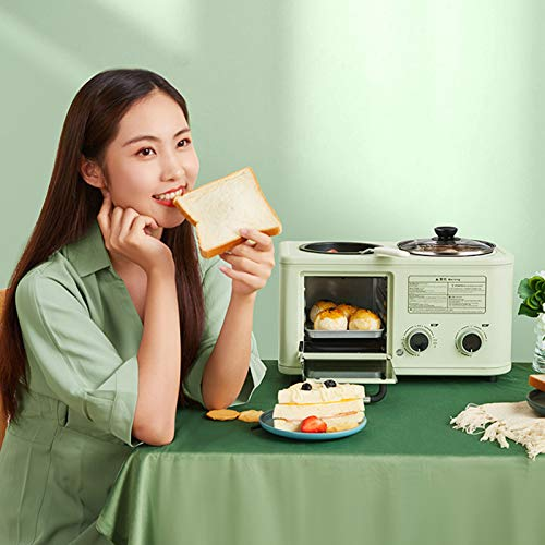 Toasters 2 Slice Best Rated Prime with Timing Reheat Functions Electric Hot Pot 3 in 1 Breakfast Station Mini Oven Omelette Pan Egg Maker