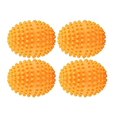 Fdit Orange Reusable Dryer Balls Washing Laundry Drying Ball for Home Clothes Cleaning 4Pcs/Set