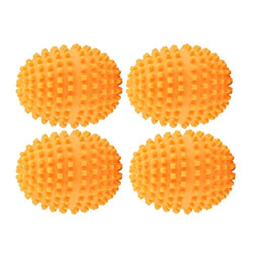 4 teile/satz Trocknerkugeln Orange Trocknerbälle Wäsche Trocknen Ball Wiederverwendbare Dryer Balls, Ideal für Pflegend, umweltschonend, zeit und kostensparend