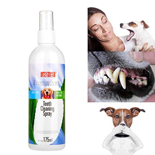 ❤️Byedog❤Dog Cat Dental Spray Pet Teeth Breath Cleaning Freshener Care Cleaner Bad Breath Treatment for Dogs & Cats Pet Toothpaste