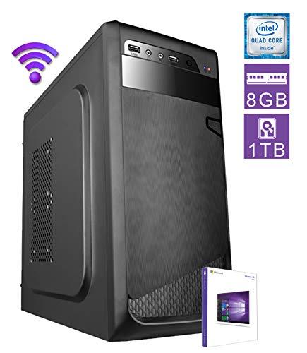 DILC Airo W Pc Desktop Intel Quad Core 2.00 ghz Ram 8 gb Hard Disk 1 tb WiFi Masterizzatore Licenza Windows 10 PRO