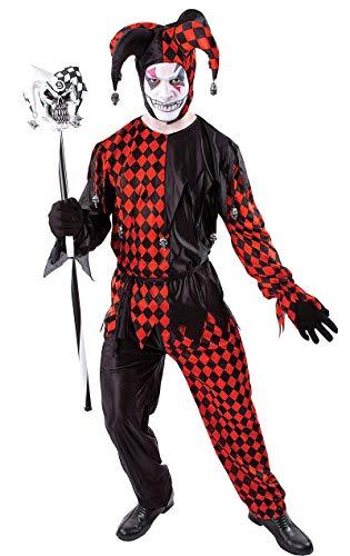ORION COSTUMES Herren Böser Hofnarr Halloween Joker Maskenkostüm