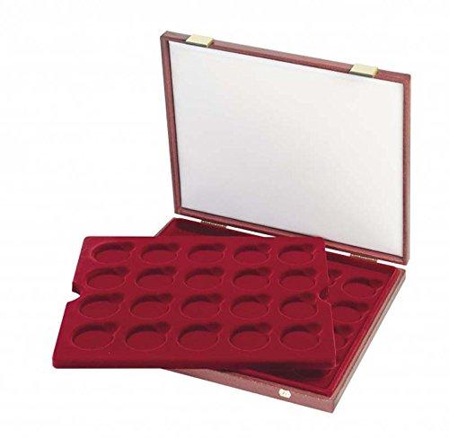 Lindner S2451 Luxus-Kassette für original verkapselte 10 Euro- oder 20 Euro-Silbermünzen Bundesrepublik Deutschland in Spiegelglanz