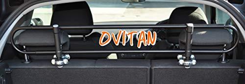 OVITAN® Hundegitter fürs Auto 2 Streben universal zur Befestigung an den Kopfstützen der Rücksitzbank - für alle Automarken geeignet - Modell: H02