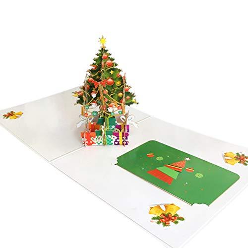 Vosarea Hecho a Mano en 3D Pop-up Saludo Tarjetas de bendición Merry Christmas Festival Tarjeta día de Navidad año