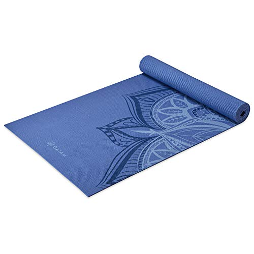 Gaiam Yoga Mat Premium Print Non Slip Exercise & Fitness Mat for All Types of Yoga, Pilates & Floor Workouts, Altitude Point, 5mm (05-64064)