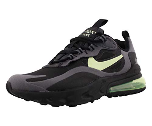 Nike Air MAX 270 React (GS) - Negro/Barely Volt-Black-Dark Grey, Talla: 5Y