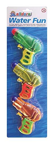 alldoro- Set di 3 Pistole ad Acqua, Colori Assortiti, per divertirsi Umido, Ideale per Il Compleanno dei Bambini, 60105