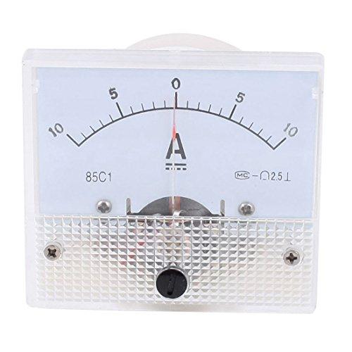 sourcing map Analog Current Panel Meter DC -10-10A 85C1 Amperemeter für Kfz-Schaltkreistests Laden von Akkus Ampere-Tester-Messgerät