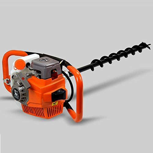 """2-Stroke Gasoline Gas Powered Earth Auger Post Hole Digger One Man Post Hole Digger for Planting, Earth Burrowing/Drilling & Fences 71cc +4/6/8"""" Drill Bit"""