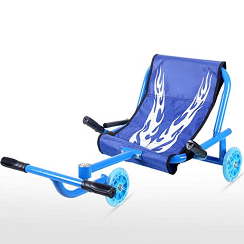 LAMZH Motocicleta de tres ruedas para niños, triciclo para niños, rueda intermitente, scooter cuadrado deslizante, karting, bebé largo para que elijas (color: azul)