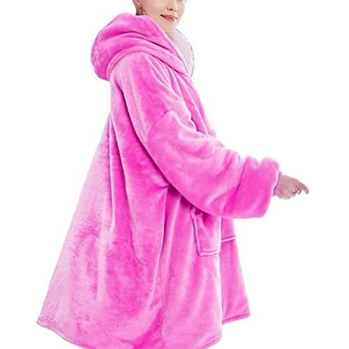 XiuLi Sudadera con Capucha, Sudadera con Capucha para Mujer, Sudadera Gigante, súper Suave y cómoda, Adecuada para Adultos, Hombres y Mujeres. (Color : Pink)
