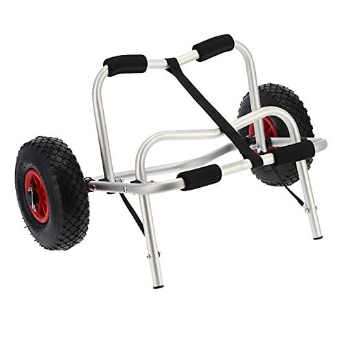 AYNEFY Carrito de Canoa, Carga de Carro de Canoa 80 kg Carro de Kayak de 10'Aluminio con neumáticos para Canoa