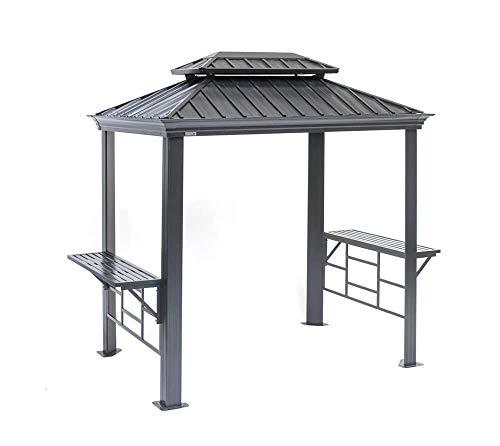 Sojag Messina Grillpavillon, grau, 179 x 292 x 262 cm