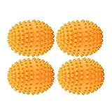 VIFERR Wäscherei-Kugeln, 4Pcs / Set Orange Reusable Dryer Ball Waschen von Wäsche Trocknen Ball für Waschmaschine Wäscherei