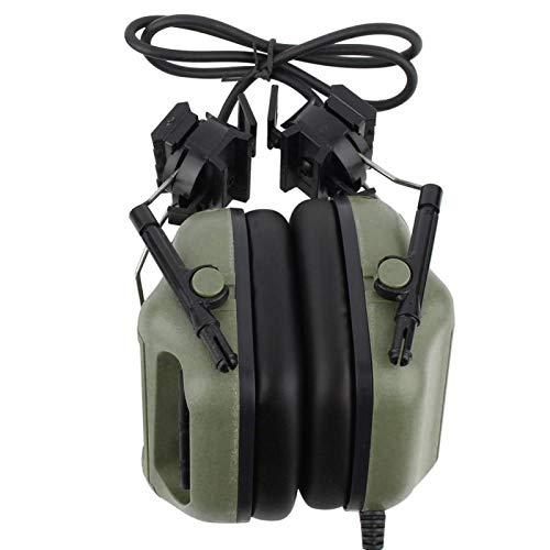 SALUTUYA Cómodo de Usar Micrófono Auriculares Auriculares Micrófono, para Exteriores Resistente a Salpicaduras de Agua,(Green)